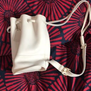 White Coach leather backpack vintage
